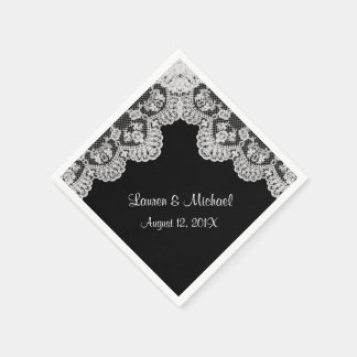 Make Your Own Color Faux White Lace Wedding Disposable Napkins