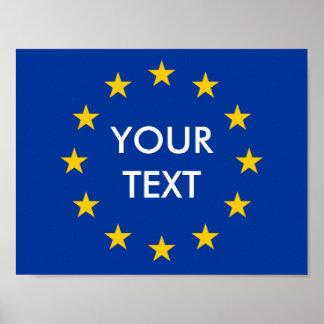 Make your own EU European Union flag posters