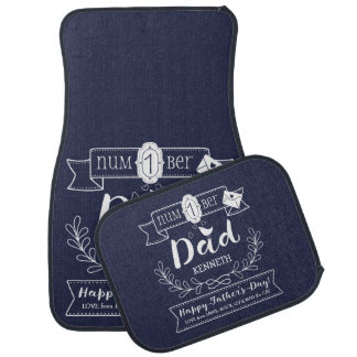 Make Your Own Father's Day No. 1 Dad Cute Monogram Car Mat