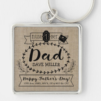 Make Your Own Father's Day Number 1 Dad Monogram Keychain