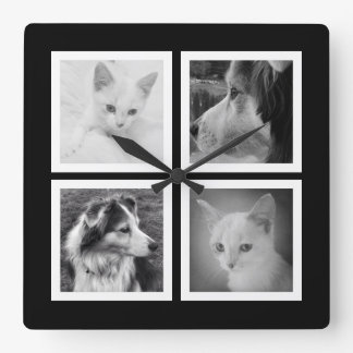 Make Your Own Four Instagram Photo Square Clock
