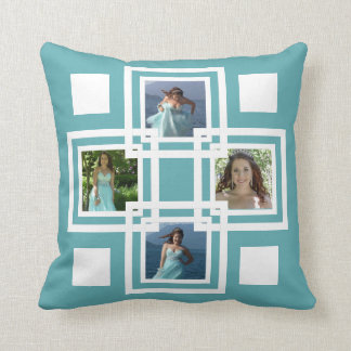 Make Your Own Funky Squares Instagram Collage Throw Pillow