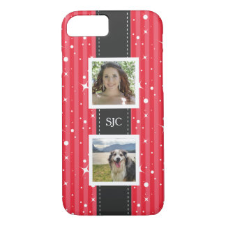 Make Your Own Girly Pink Stripes Photo iPhone 7 Case