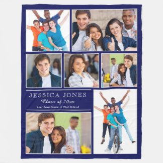 Make Your Own Graduation Gift Photo Template Fleece Blanket