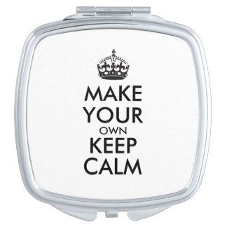 Make your own keep calm - black vanity mirror