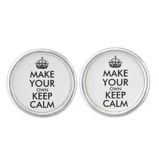 Make your own keep calm cufflinks