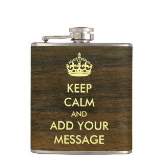 Make Your Own Keep Calm Flask Rio Rosewood