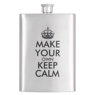 Make your own keep calm hip flask