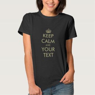 Make your own Keep calm t shirt parody