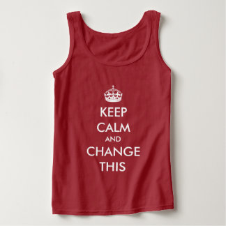 Make Your Own Keep Calm Tank Top