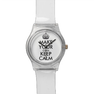 Make your own keep calm watch