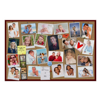 Make Your Own Memory Photo Cork Board Poster
