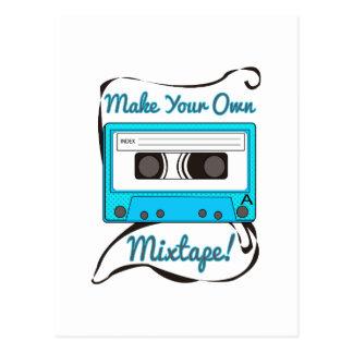 Make Your Own Mixtape Postcard