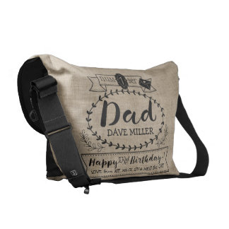 Make Your Own Number 1 Dad Birthday Cute Monogram Courier Bags