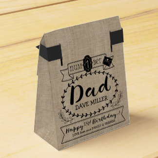 Make Your Own Number 1 Dad Birthday Cute Monogram Favor Box