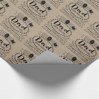 Make Your Own Number 1 Dad Birthday Cute Monogram Wrapping Paper