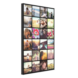 Make your own photo collage canvas print