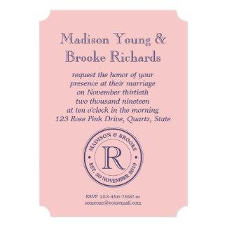 Make Your Own Rose Quartz Pink Logo Monogram Card