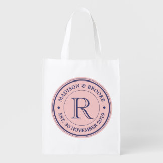 Make Your Own Rose Quartz Pink Logo Monogram Market Totes
