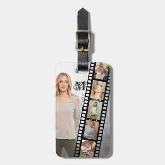 Make Your Own Senior Portrait Retro Film Negative Luggage Tag