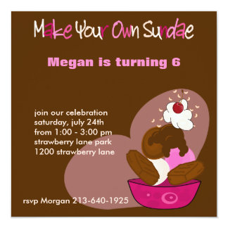 Make Your Own Sundae Birthday Invitation