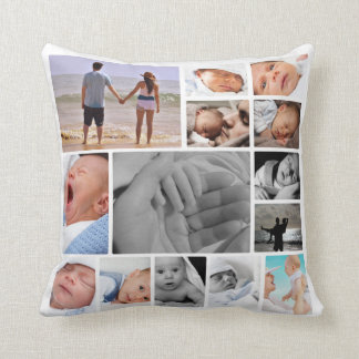 Make Your Own Unique Personalized Photo Template Throw Pillow