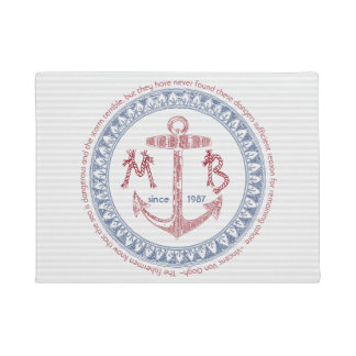 Make Your Own Vintage Anchor Nautical Monogram Doormat