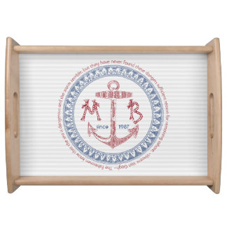 Make Your Own Vintage Anchor Nautical Monogram Serving Tray