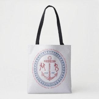 Make Your Own Vintage Anchor Nautical Monogram Tote Bag