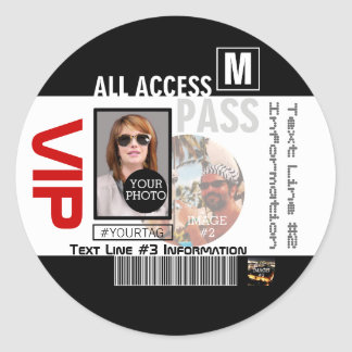 Make Your Own VIP Pass 8 ways to Personalize Classic Round Sticker