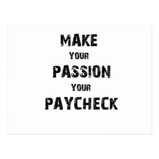 make your passion your paycheck postcard