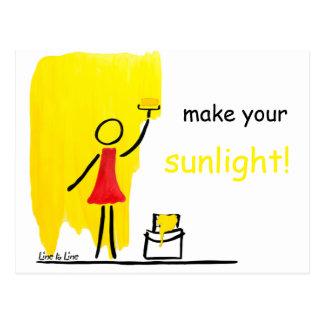 make your sunlight postcard