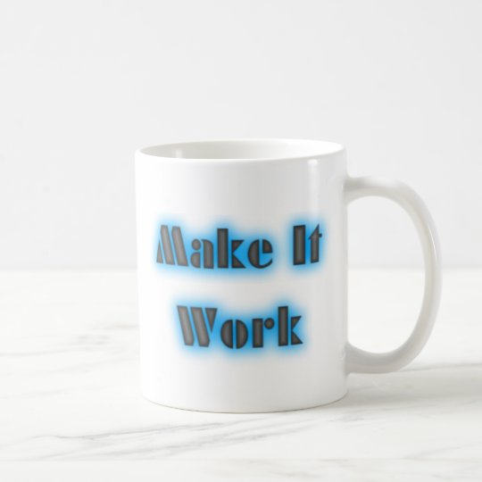 makeiworkBLUE3BIGGER Coffee Mug