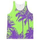 Makena Beach Hawaiian Sketchy Palms All-Over-Print Tank Top