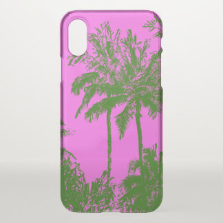 Makena Beach Hawaiian Sketchy Palms Pink iPhone X Case