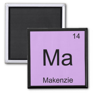 Makenzie Name Chemistry Element Periodic Table Magnets