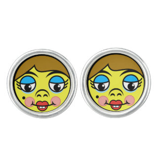 Makeover Face Cuff Links