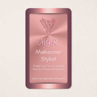 Makeover Stylist for Women, Pink Phoenix Business Card