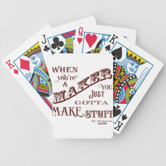 Maker Bicycle Playing Cards