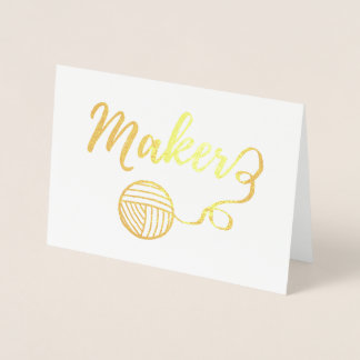 Maker Crafts Typography Print Foil Card