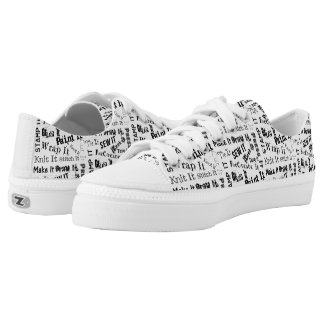 Maker Crafts Typography Print Low-Top Sneakers