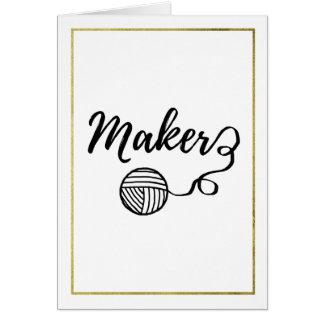 Maker Faux Gold Border Crafts Card