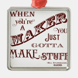 Maker Metal Ornament
