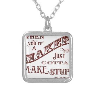 Maker Silver Plated Necklace