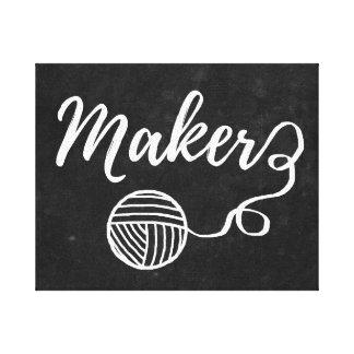 Maker • Yarn & Crafts / Craft Room Canvas Print