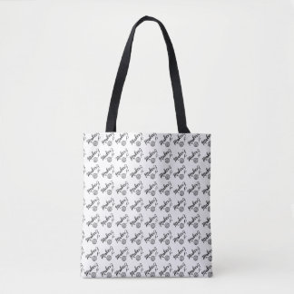 Maker • Yarn & Crafts Typography Pattern Tote Bag