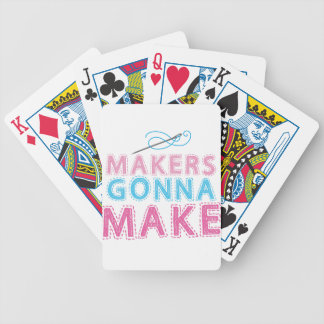Makers gonna Make with sewing needle Playing Cards