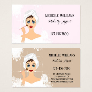 MakeUp and Beauty Business Card