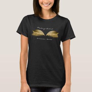 Makeup Artist Beauty Lashes Gold Honey Glitter T-Shirt