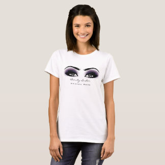 Makeup Artist Beauty Lashes Studio Purple Gray Eye T-Shirt